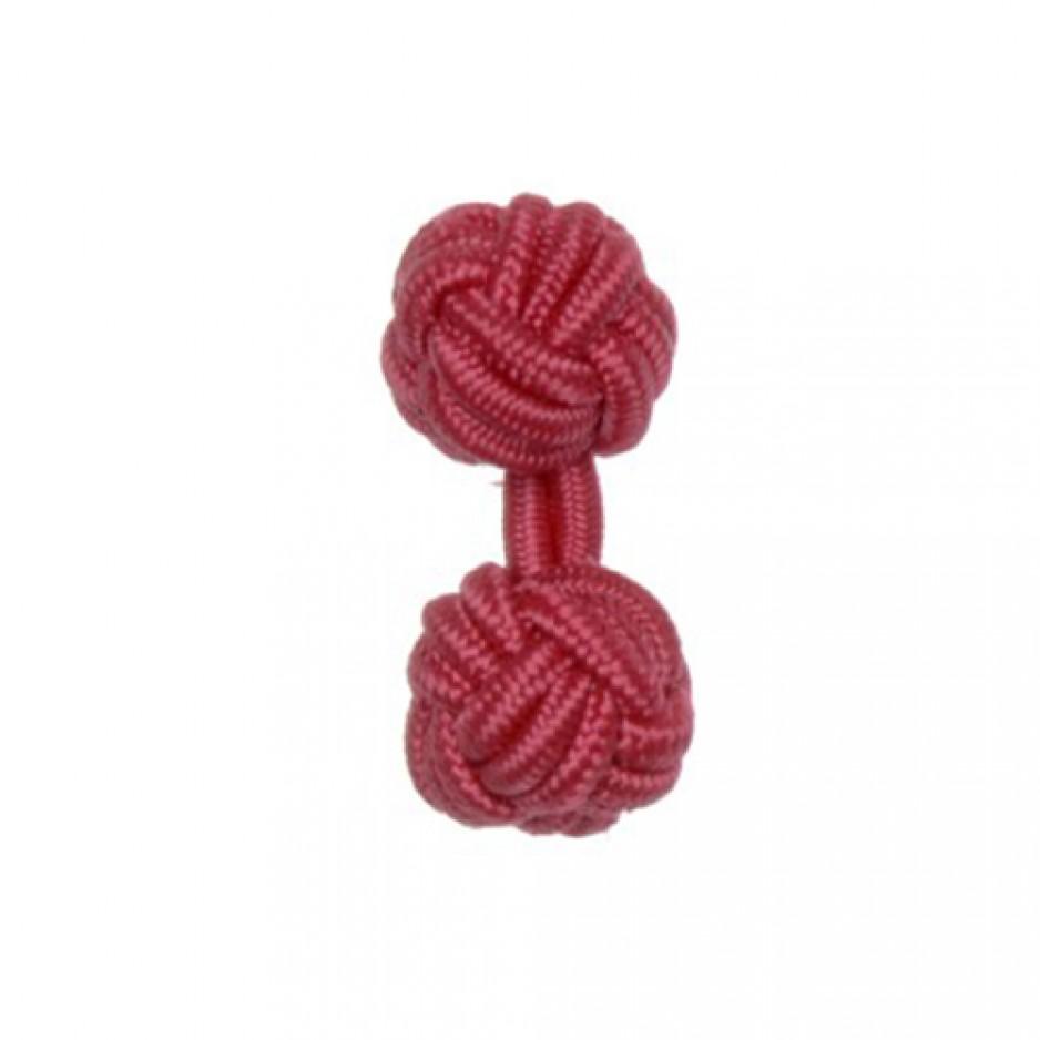 Knot Cufflink Fuchsia