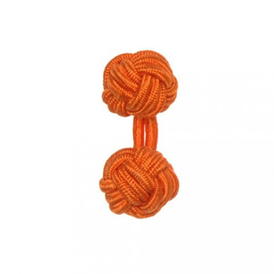 Knot Cufflink Orange