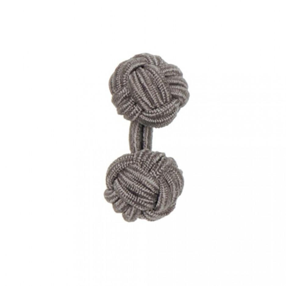 Knot Cufflink Dark Grey