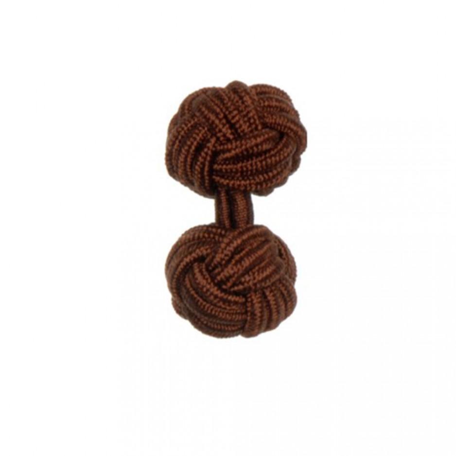 Knot Cufflink Brown
