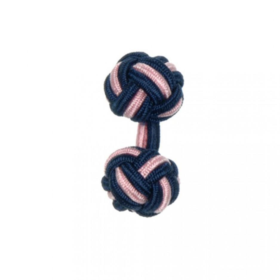 Knot Cufflink NavyWhite