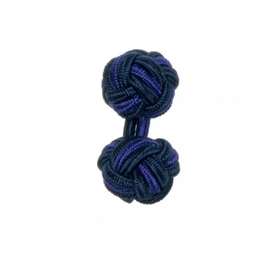 Knot Cufflink NavyPurple