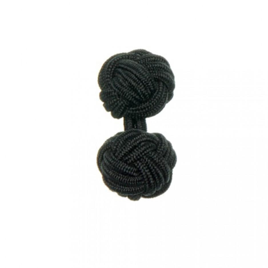 Knot Cufflink Black