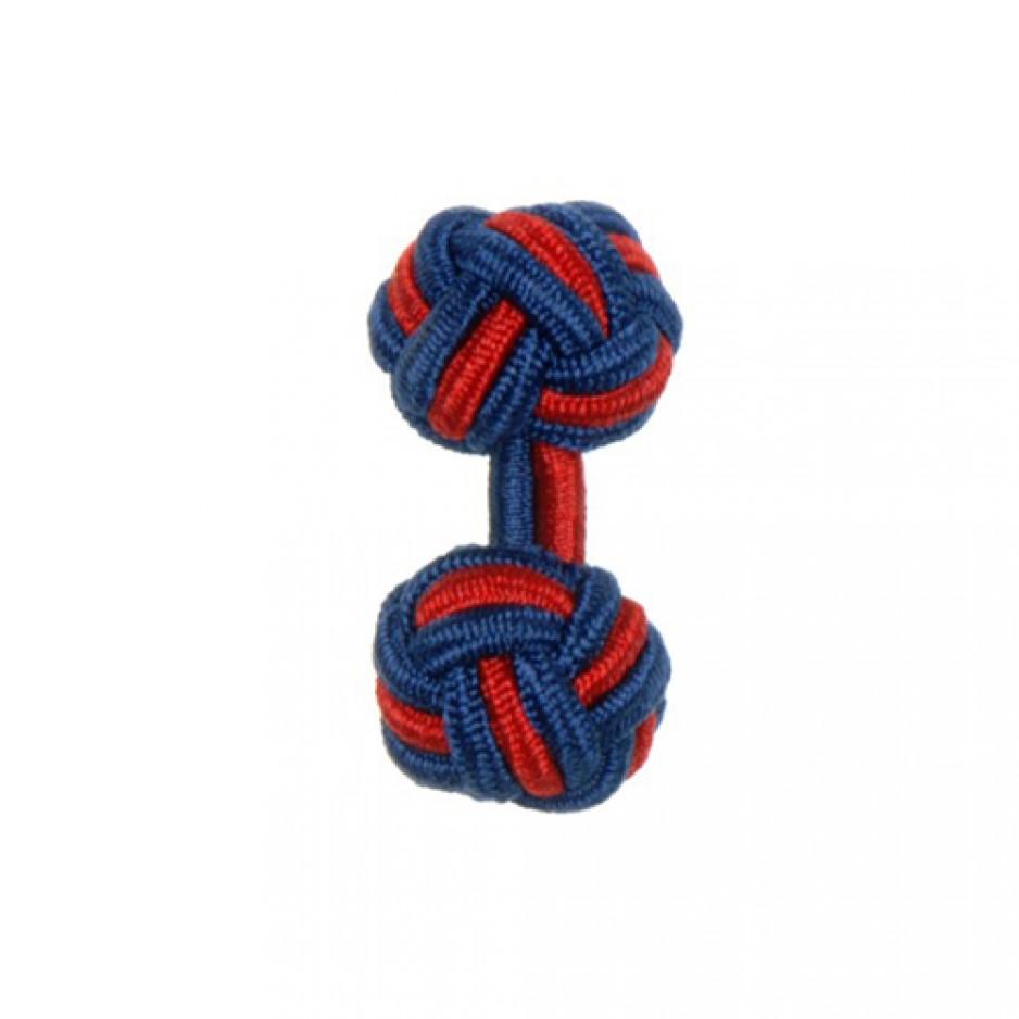 Knot Cufflink RoyalRed