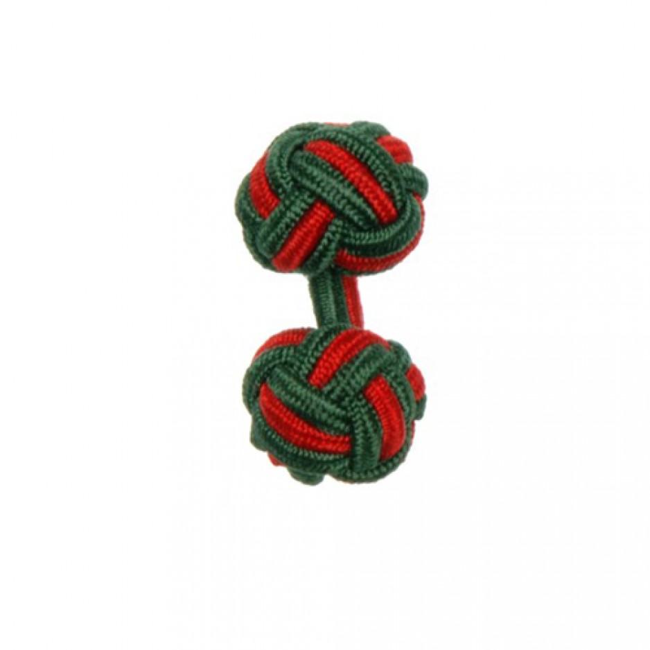 Knot Cufflink OliveRed