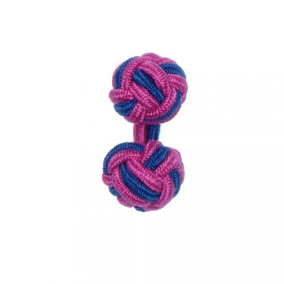 Knot Cufflink FuschiaNavy