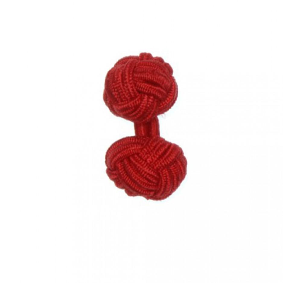Knot Cufflink Red