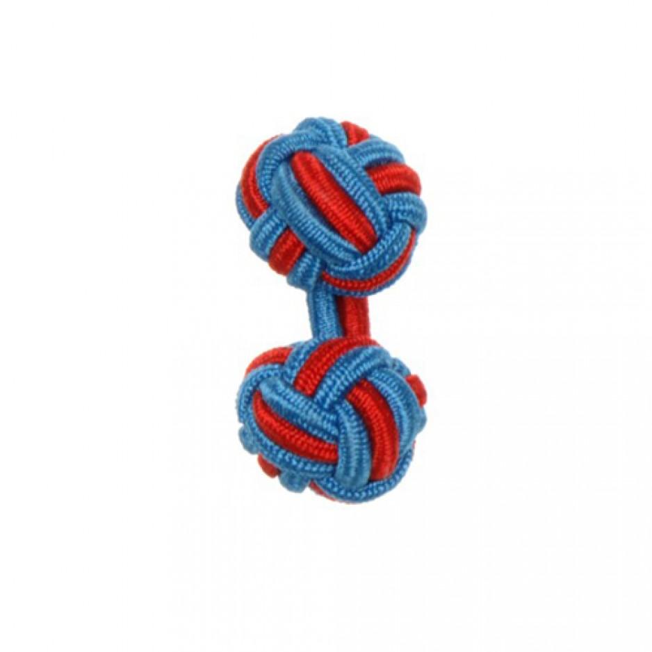 Knot Cufflink ElectricRed