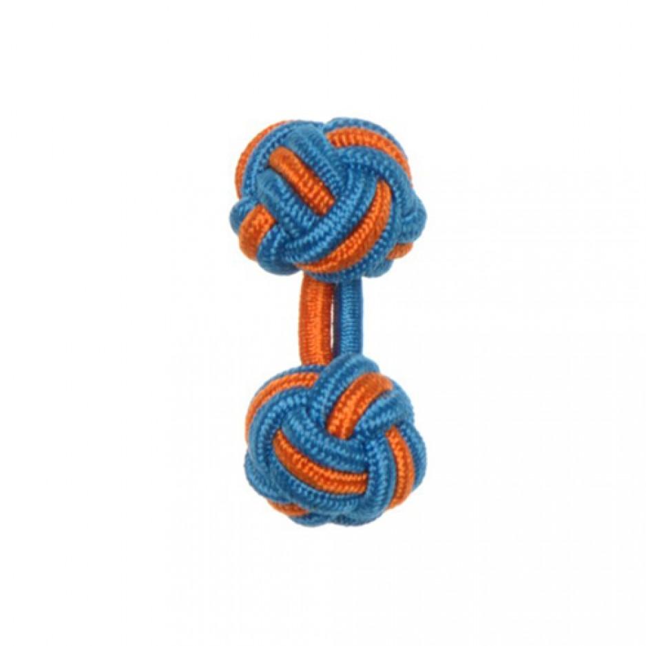 Knot Cufflink ElectricOrange