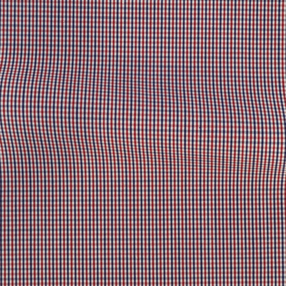 Poplin Check Pattern Blue Red