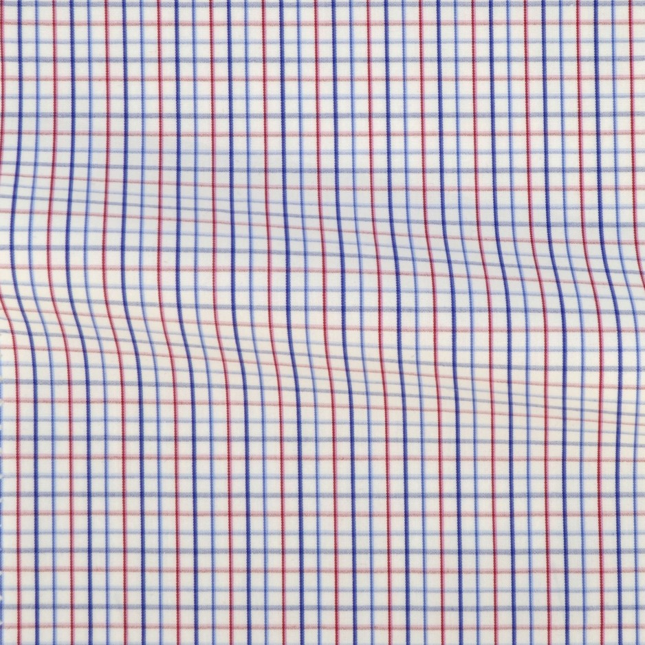 Poplin Check Pattern Red Blue