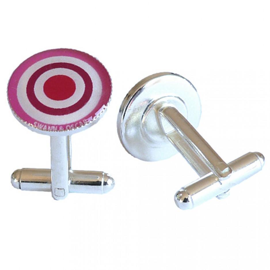 Cufflink Pink Target