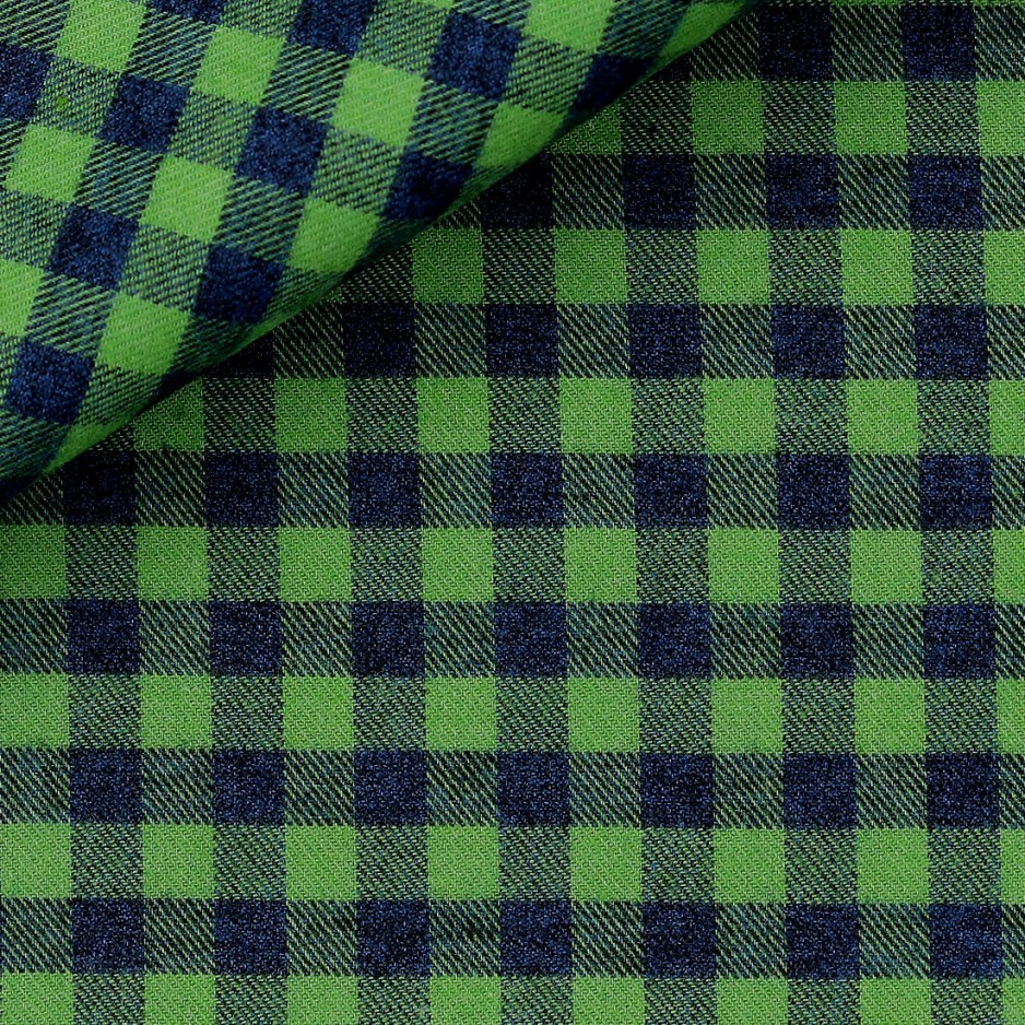 Flannel Green Check Pattern