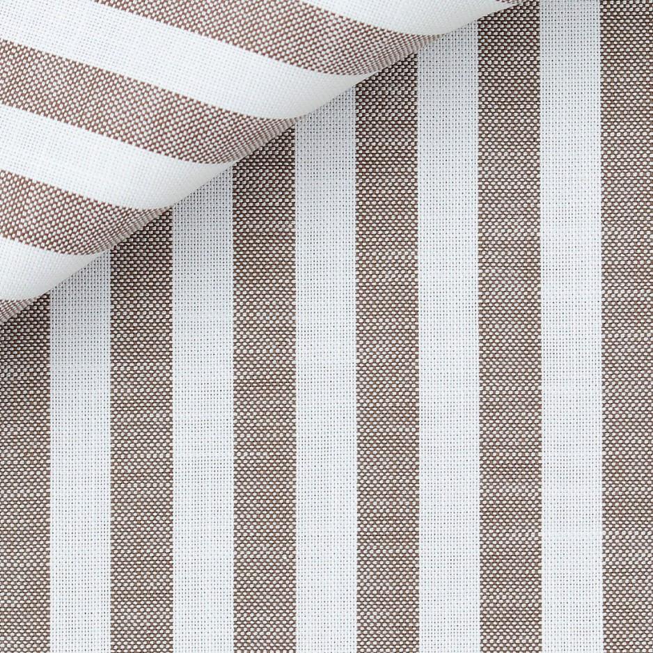 Brown Stripes Chambray