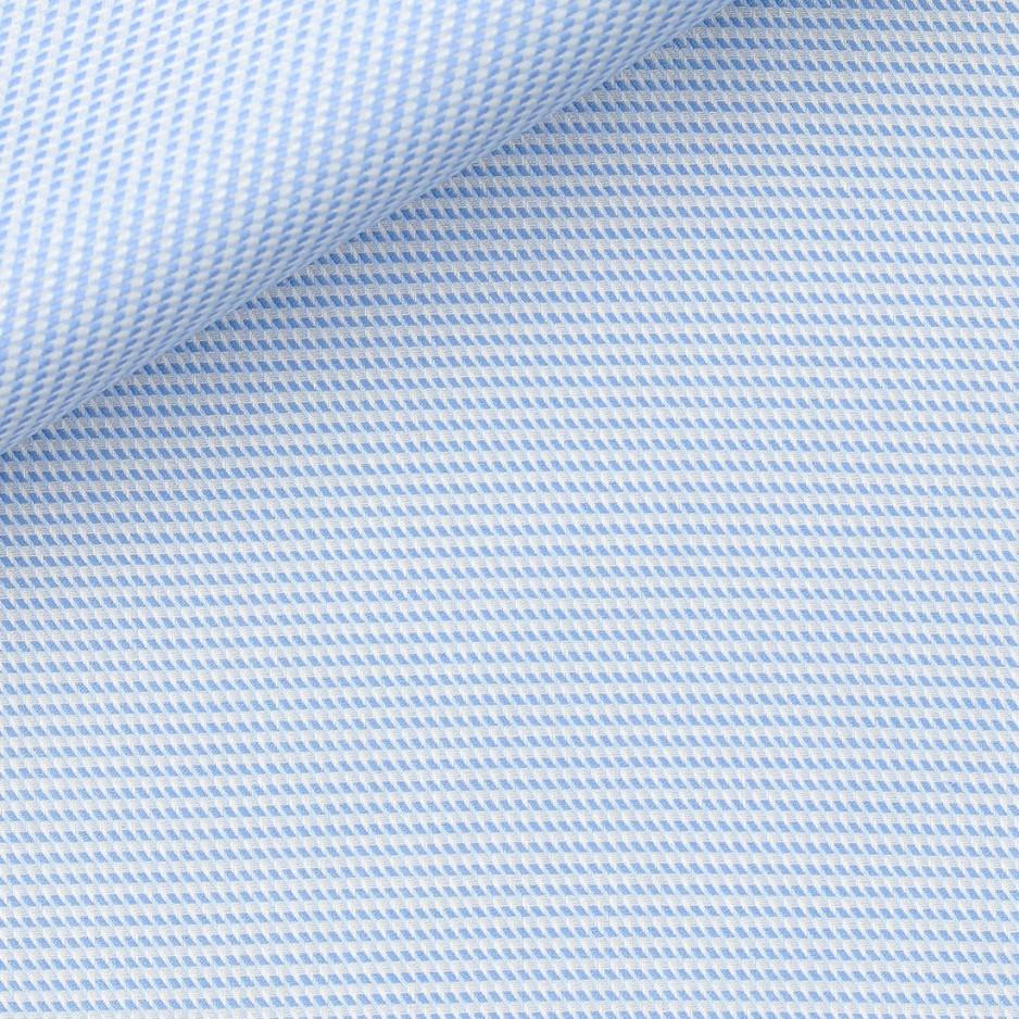 Dobby Check Pattern Blue