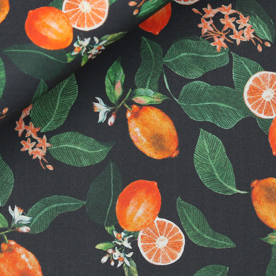 Poplin Pattern Orange
