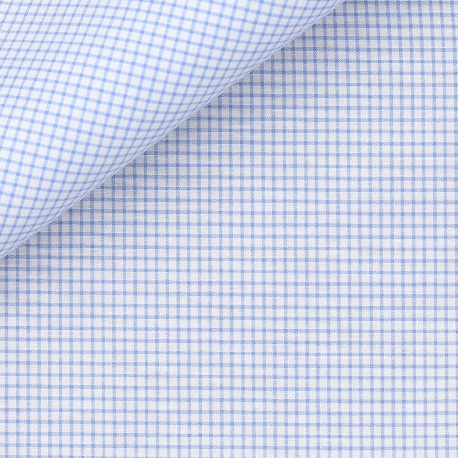 Twill Check Pattern Blue