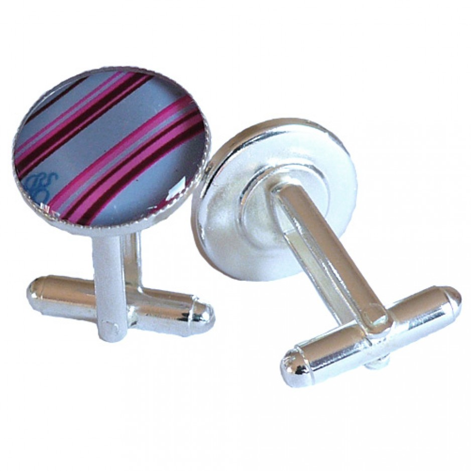 Cufflink Blue Multi Stripes