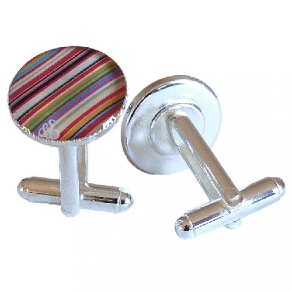 Cufflink Multicolor Stripes
