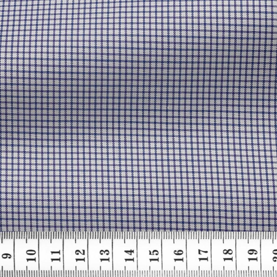 Twill Check Pattern Blue Purple