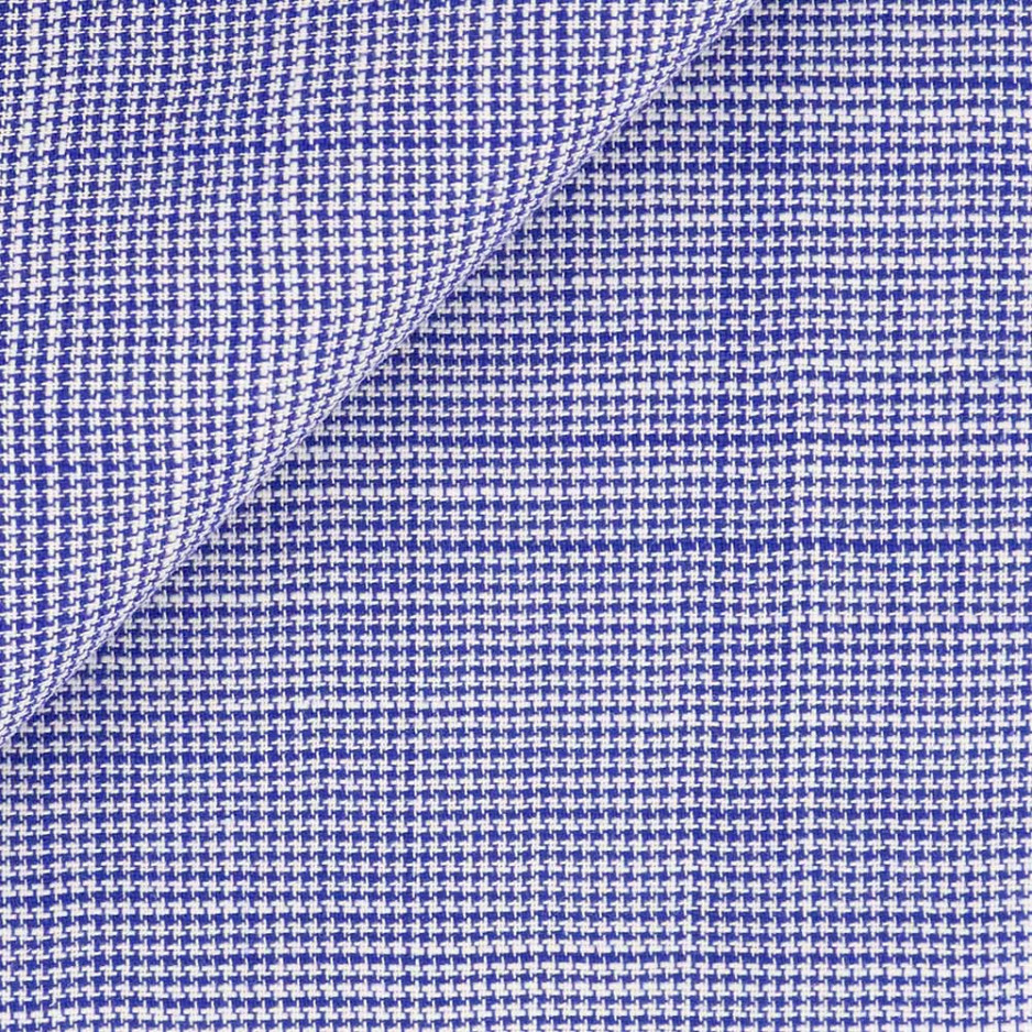 Chambray Check Pattern Blue