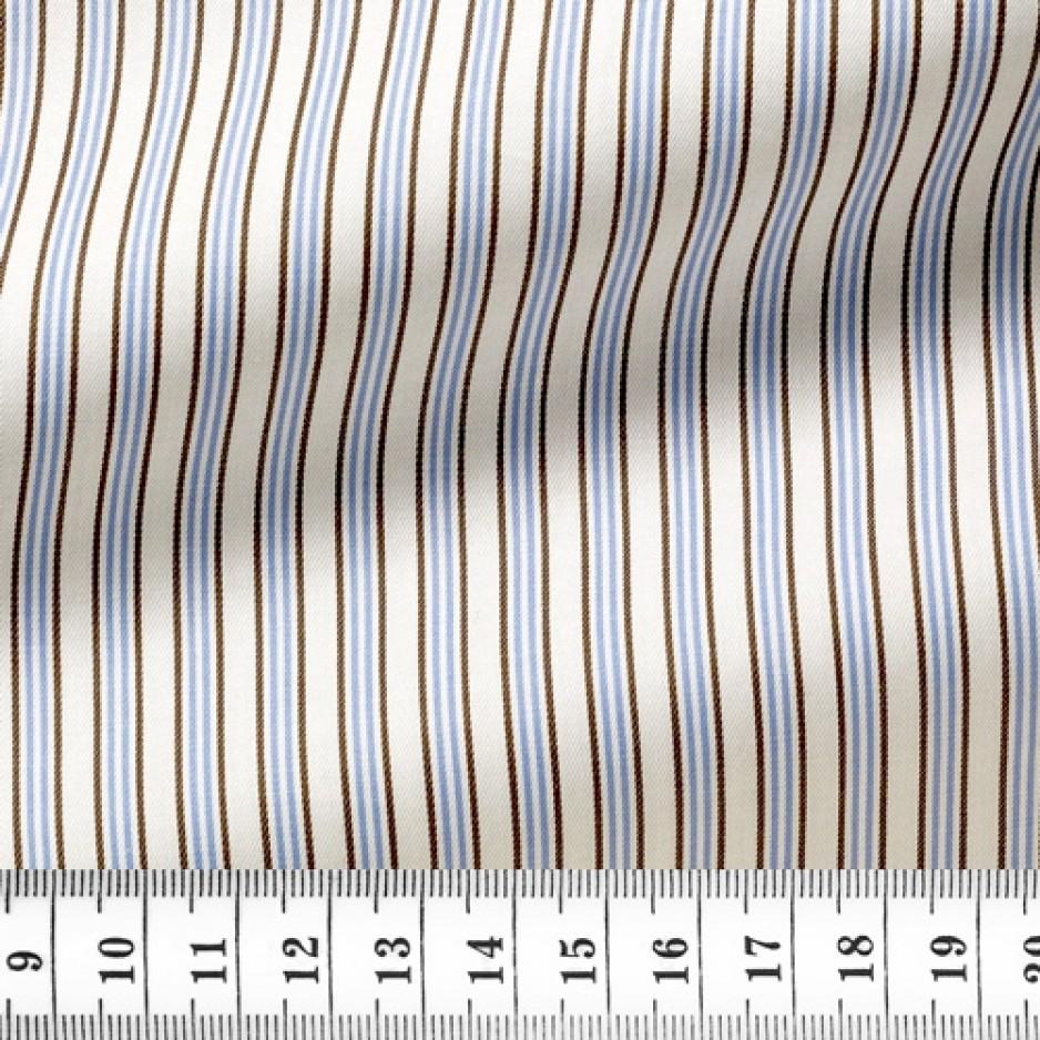 Twill Stripes Blue Brown