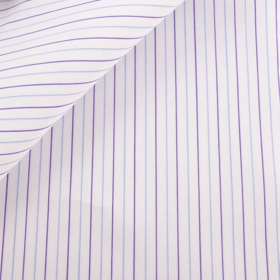 Poplin Stripes Blue Purple