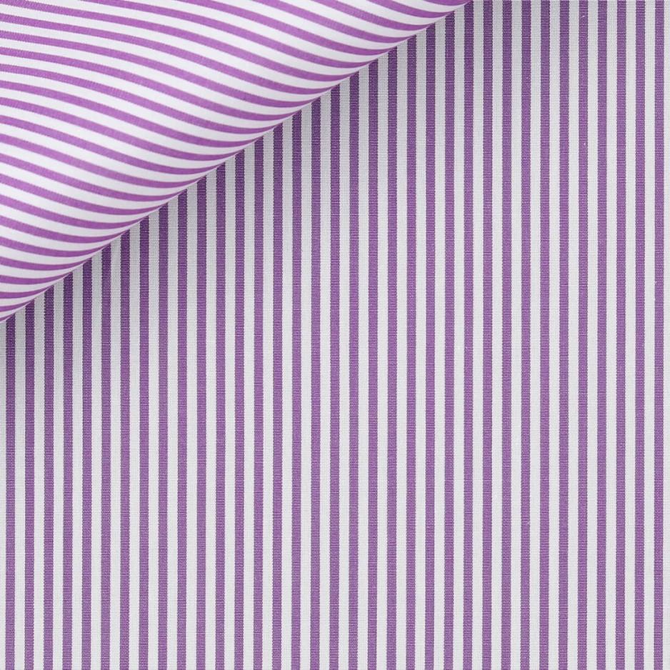 Poplin Stripes Purple