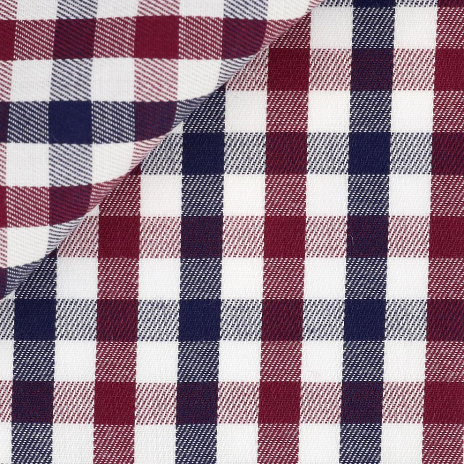 Twill Check Pattern Red Blue