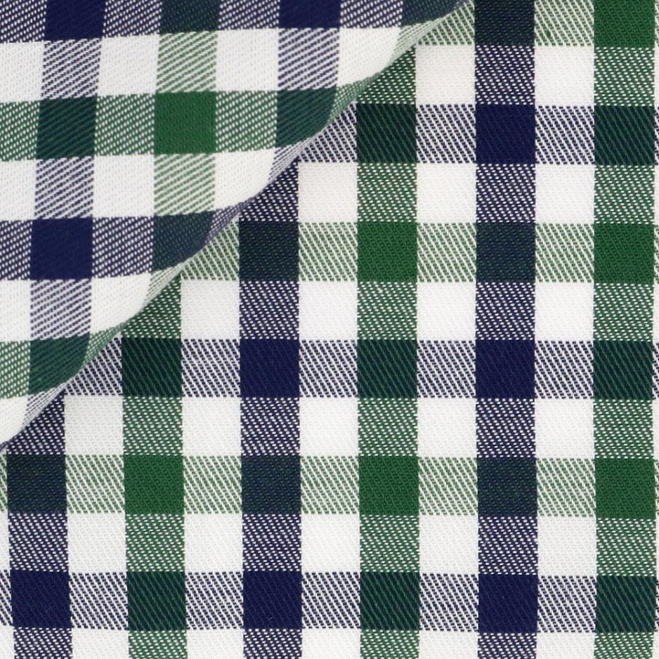 Twill Check Pattern Green Blue