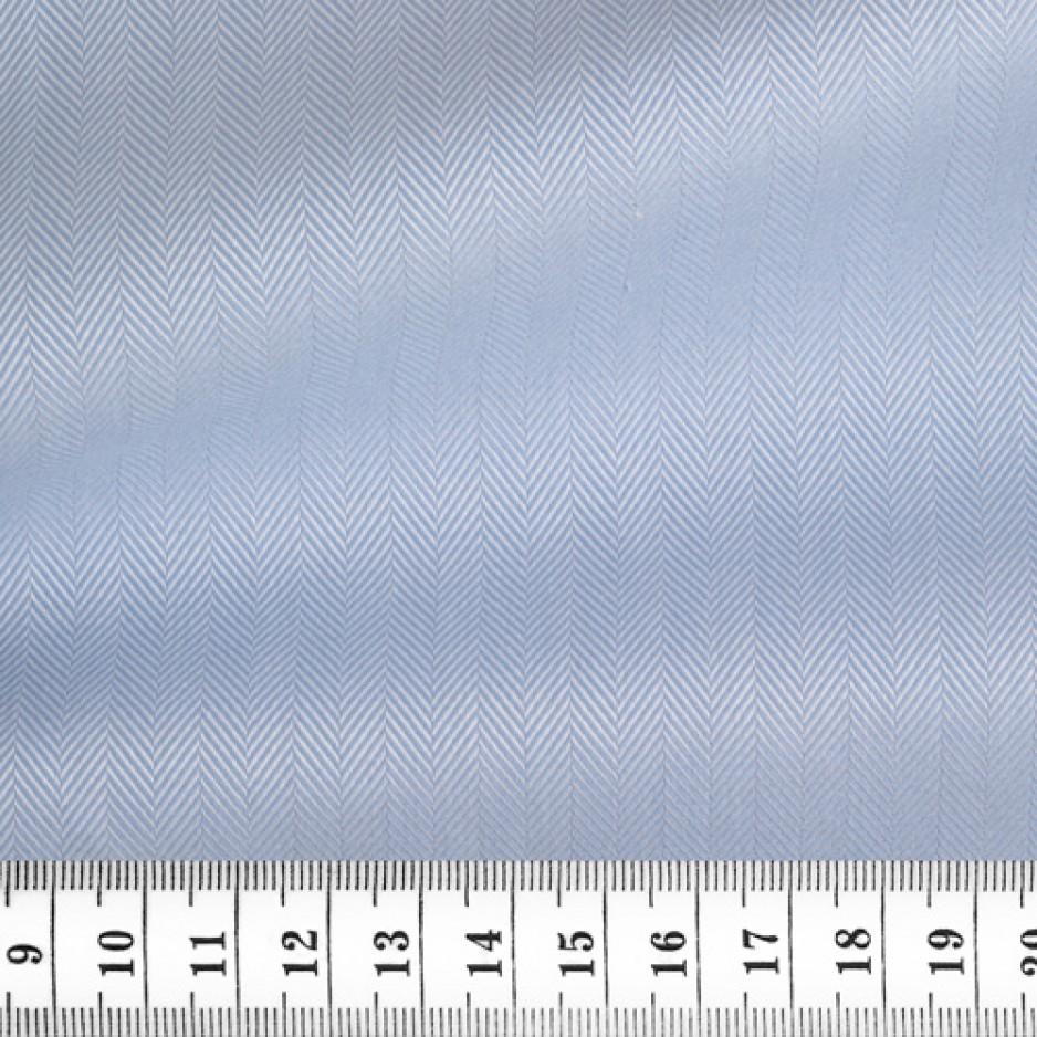 Herringbone Plain Blue