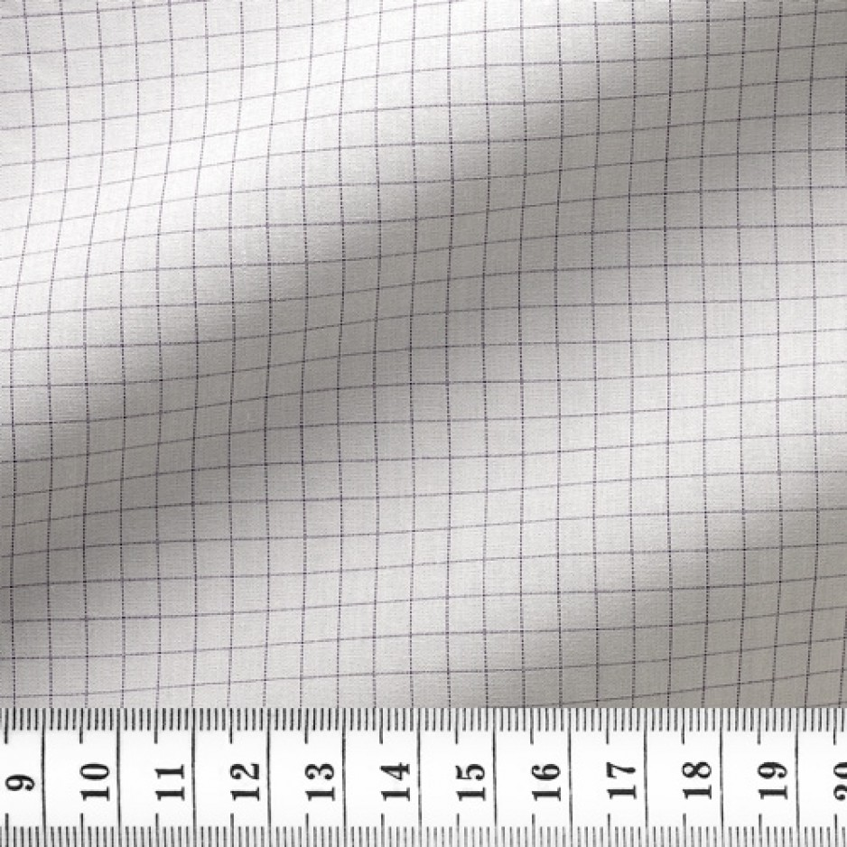 Poplin Check Pattern Black Mauve