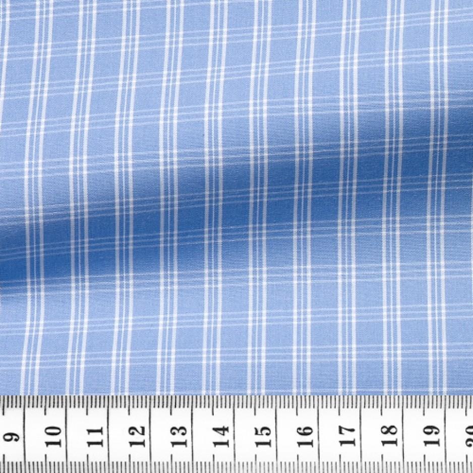 Poplin Check Pattern Blue