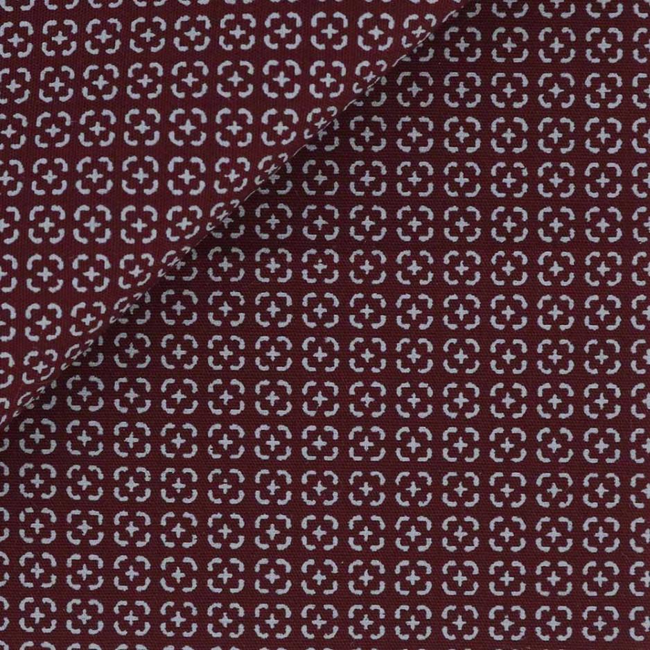 Poplin Pattern Red Grey