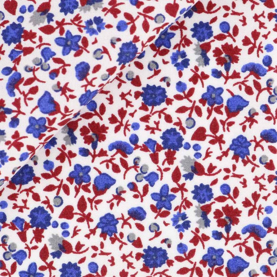 Poplin Pattern Blue Red