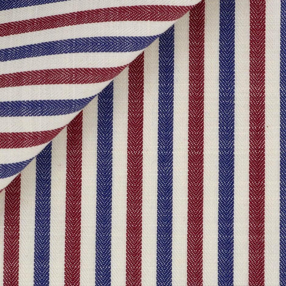 Herringbone Stripes Blue Red