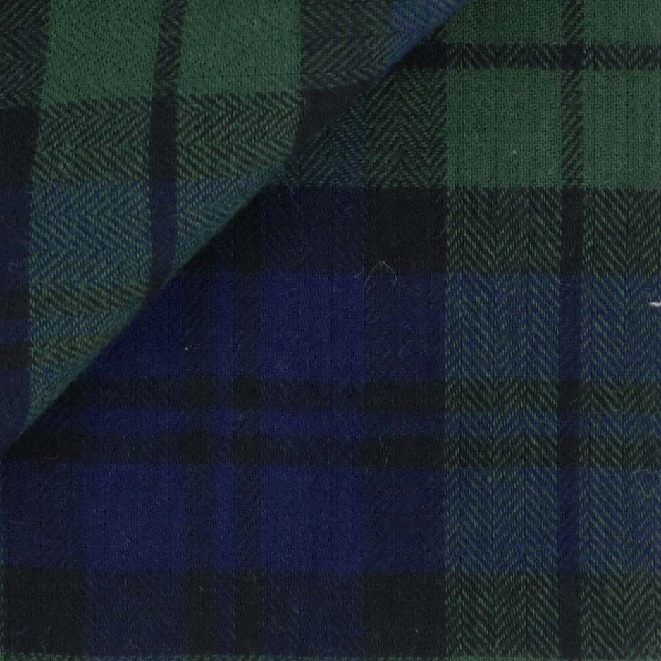 Flannel Check Pattern Blue Green