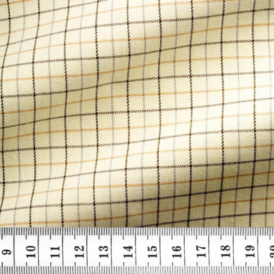 Twill Check Pattern Beige Brown