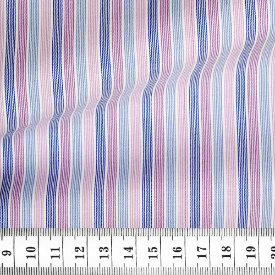 Poplin Stripes Pink Blue