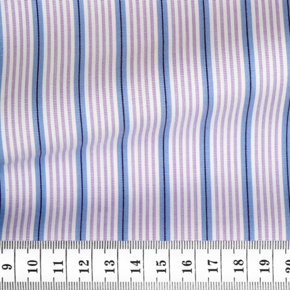 Poplin Stripes Purple Blue