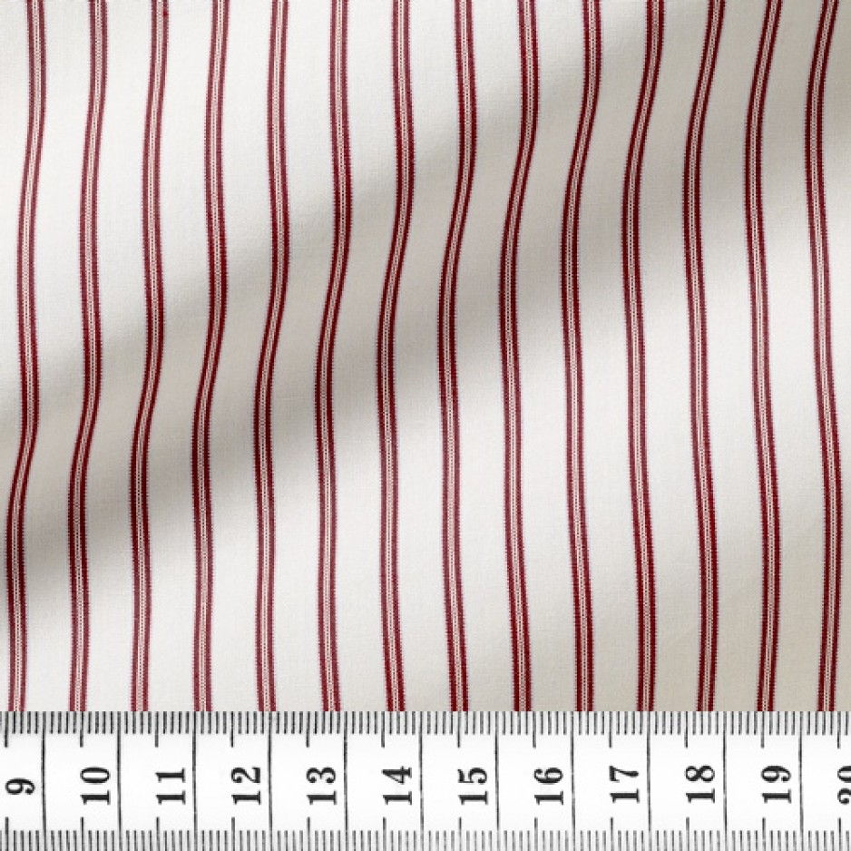 Poplin Stripes Red Blue
