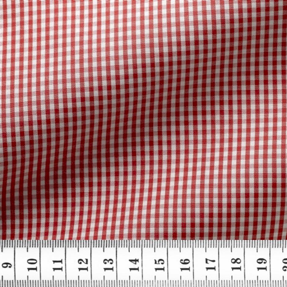 Poplin Check Pattern Red
