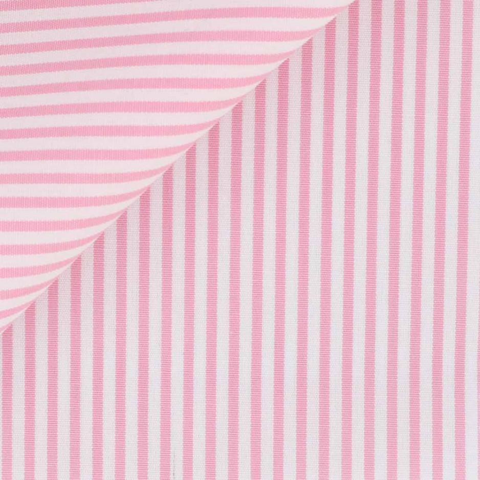 Poplin Stripes Pink White