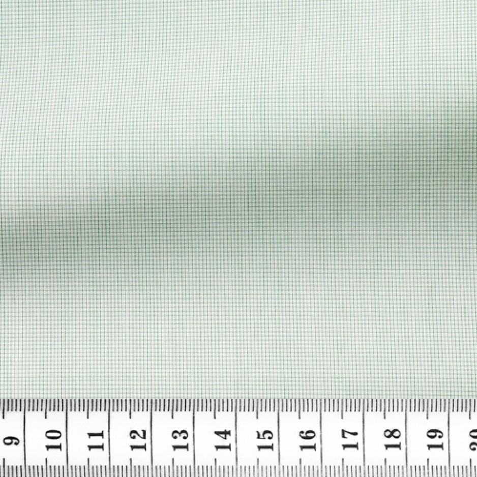 Poplin Check Pattern Green White