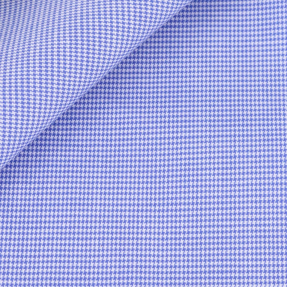 Houndstooth Plain Blue