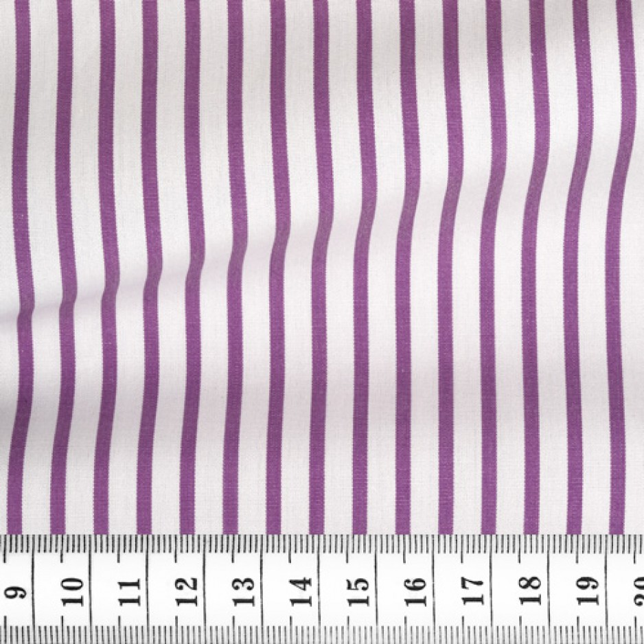 Poplin Stripes Purple