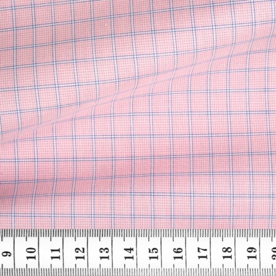 Poplin Check Pattern Pink Blue