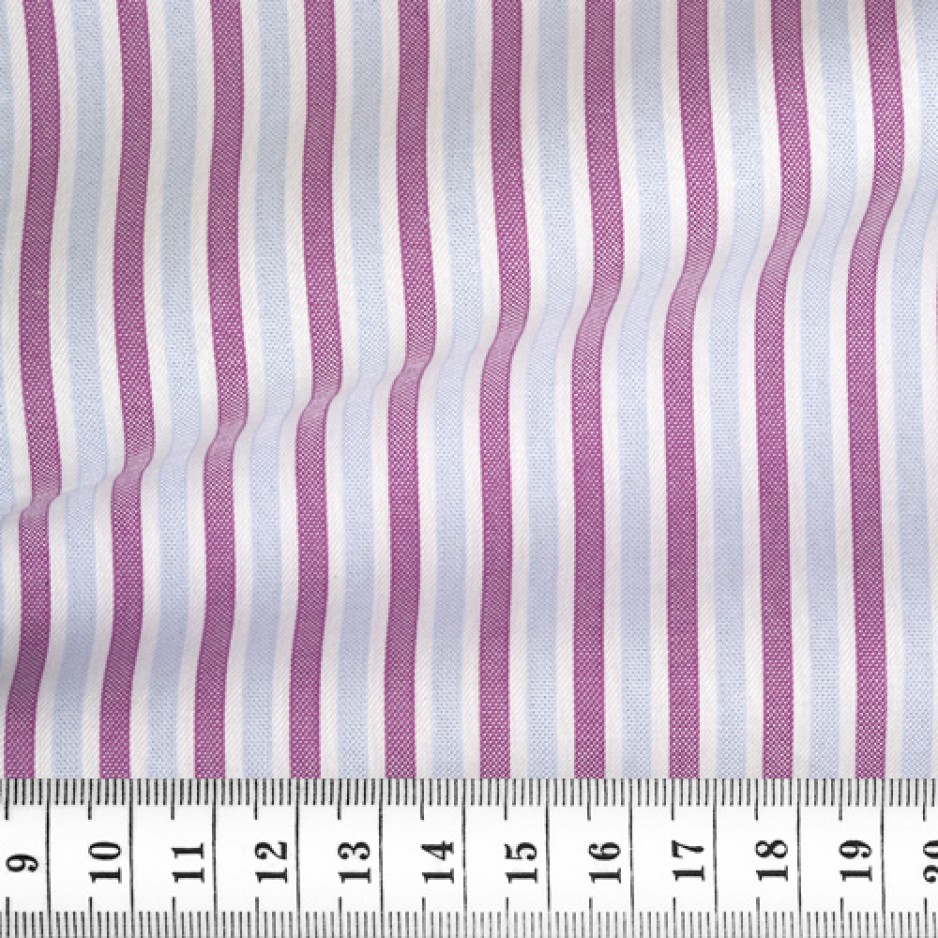 Oxford Stripes Blue Mauve