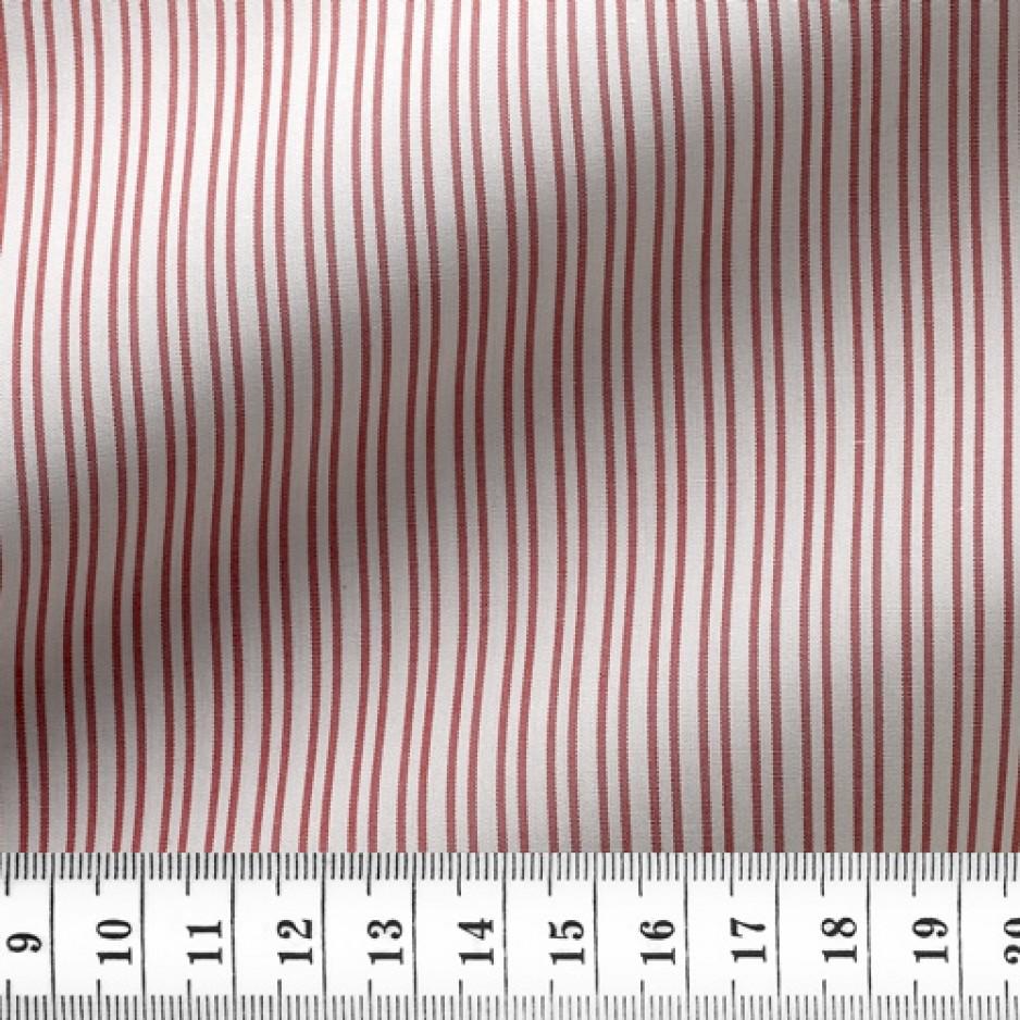 Poplin Stripes Red