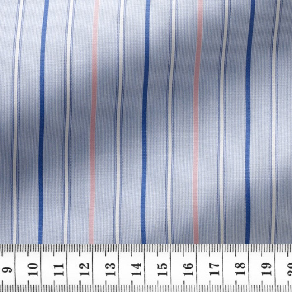 Poplin Stripes Blue Pink